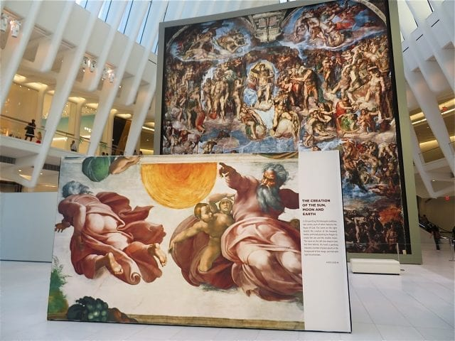 Sistine Chapel comes to the Oculus World Trade Center
