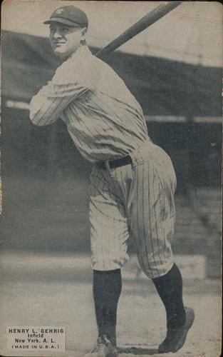 1925 Exhibits Lou Gehrig