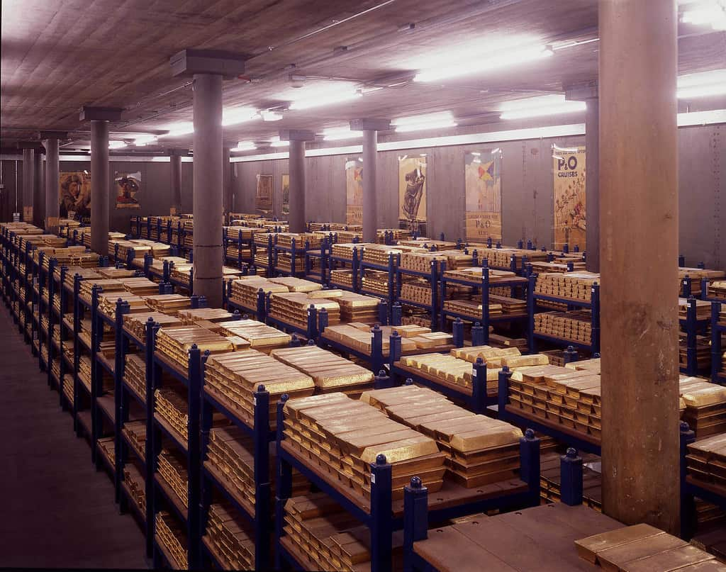 The Bank of England Gold Vault