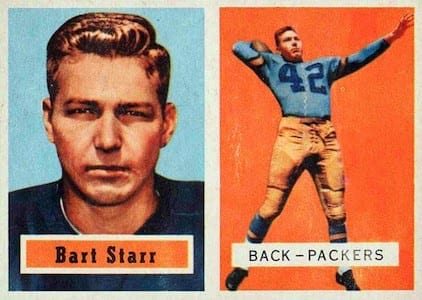 1957 Topps Bart Starr Football Cards
