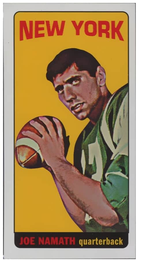 1965 Topps Joe Namath Football Cards