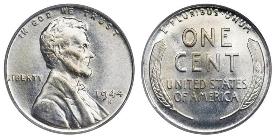 1944 Steel Wheat Penny