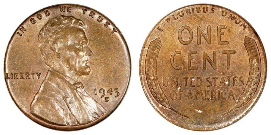 1943 Copper Wheat Penny