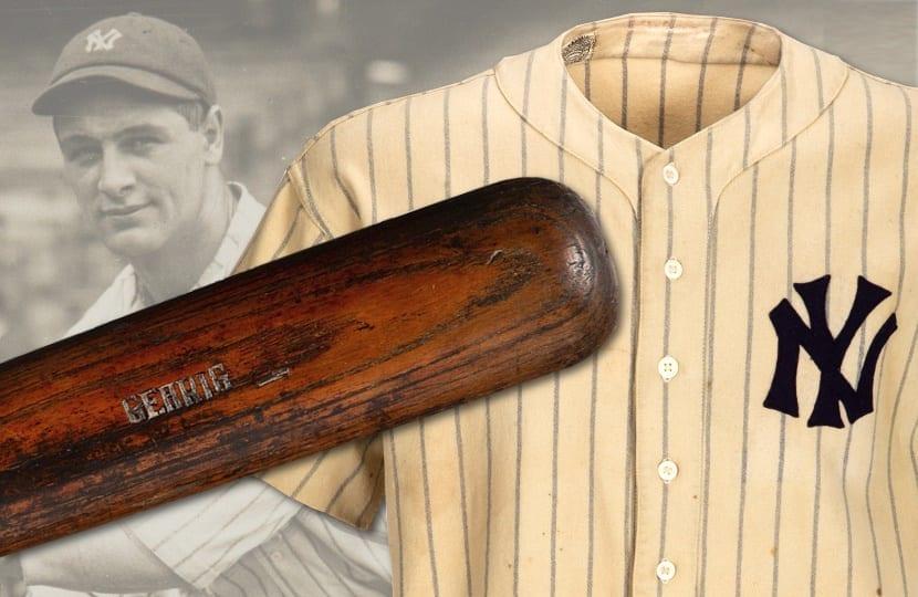 Lou Gehrig game used bat