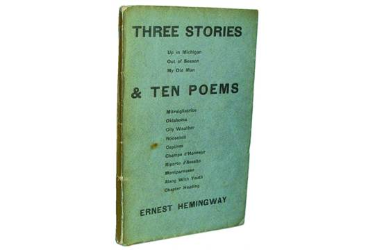 hemingway Three stories and ten poems