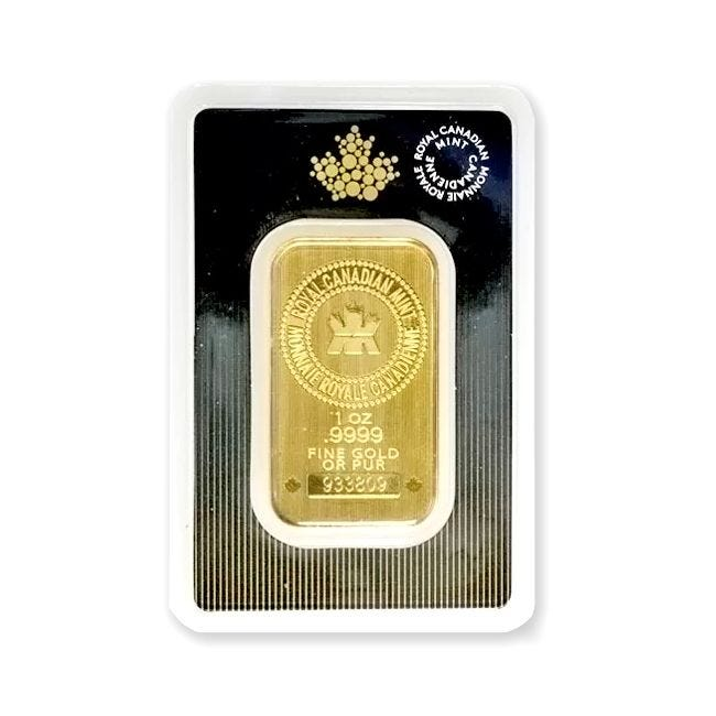 1 oz gold bar royal Canadian mint