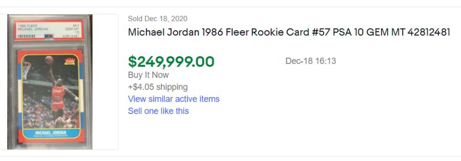 1986 fleer michael jordan