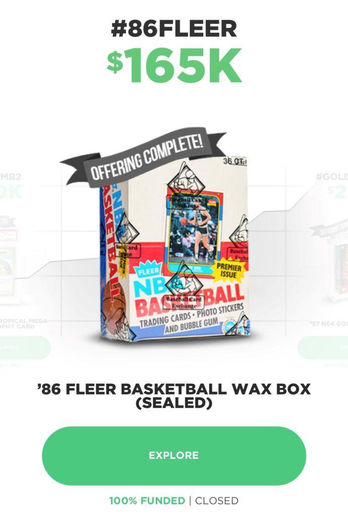 Fleer basketball wax box