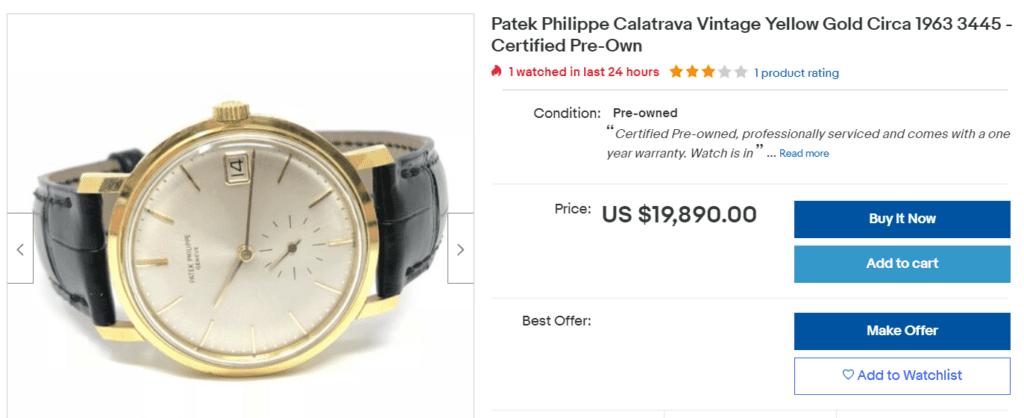 vintage Patek Philippe