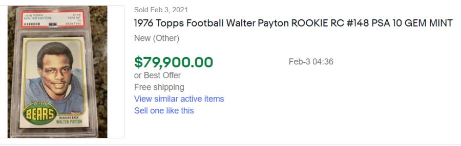 walter payton rookie card