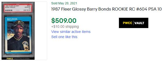 barry bonds rookie